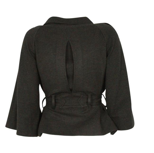 Theory Charcoal Cropped Trench Grey Jacket Image 3