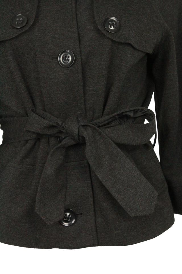 6a81f70901d Theory Charcoal Cropped Trench Grey Jacket Image 10. 1234567891011