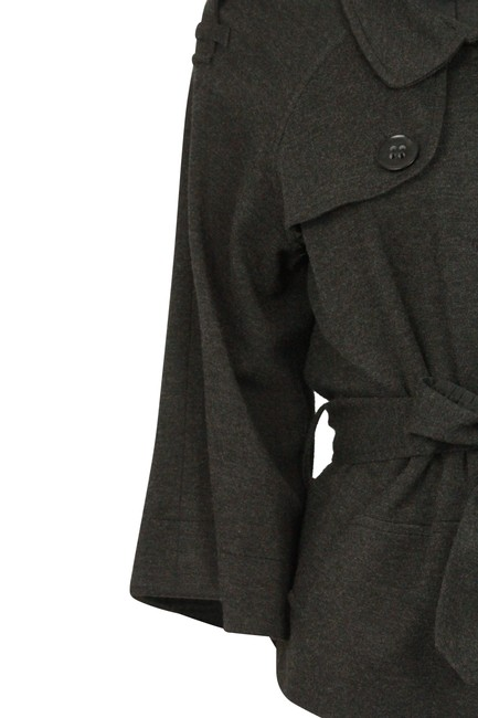 Theory Charcoal Cropped Trench Grey Jacket Image 6
