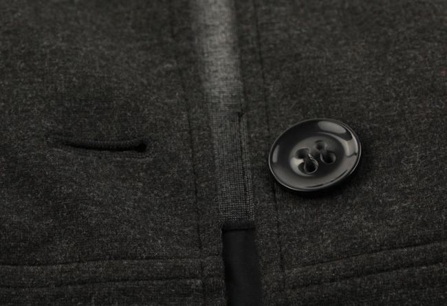 Theory Charcoal Cropped Trench Grey Jacket Image 8