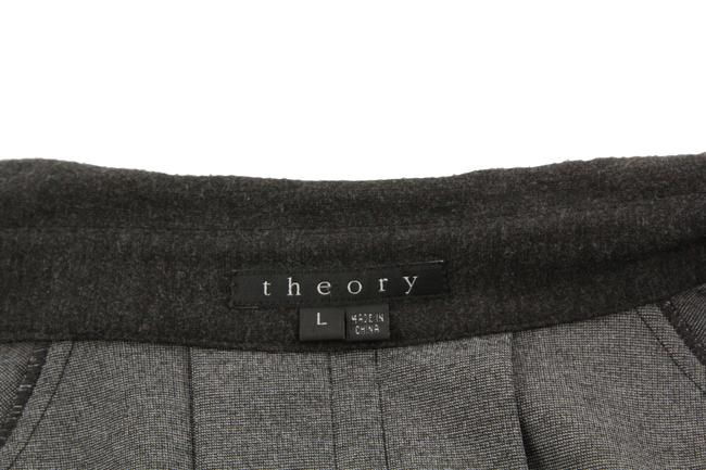 Theory Charcoal Cropped Trench Grey Jacket Image 9