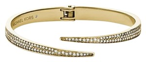 Michael Kors New Michael Kors Brilliance Matchstick Gold Tone Pave Bangle Bracelet