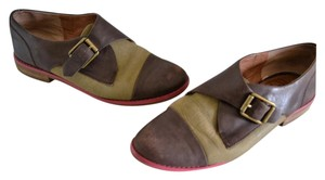 Lucky Brand Brown/olive green Flats