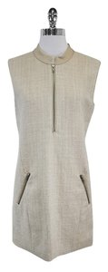 Theory short dress Beige Wool Blend on Tradesy