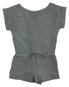 Alice + Olivia Olive Silk Linen Romper Dress