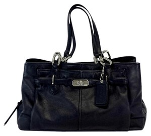 Coach Black Sectioned Leather Hobo Bag