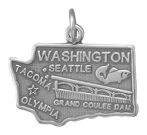 unknown Sterling Silver Washington State Charm