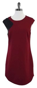 Trina Turk short dress Maroon Black Cap Sleeve on Tradesy