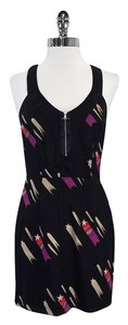 Rory Beca short dress Black Star Print Silk on Tradesy