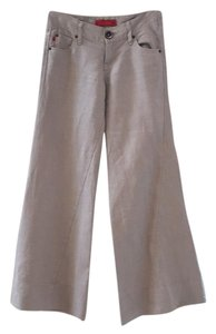 Level 99 Super Flare Pants Natural Wheat