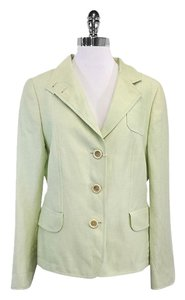 Akris Punto Light Lime Green Wool & Linen Jacket