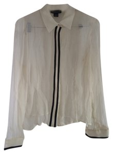 Spenser Jeremy Top Off white with black trim