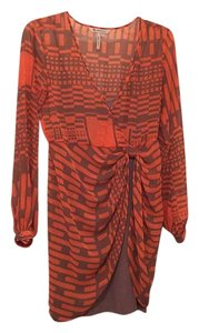 BCBGeneration short dress Orange/Dune on Tradesy