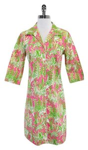Lilly Pulitzer short dress Pink & Green Safari Print on Tradesy