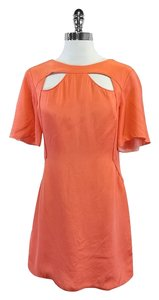 Rebecca Minkoff short dress Coral Silk Short Sleeve on Tradesy