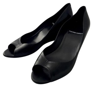 Pierre Hardy Hardy Peep Toe Mid Hight Black Wedges