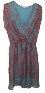 Bar III short dress Turquoise/Coral on Tradesy