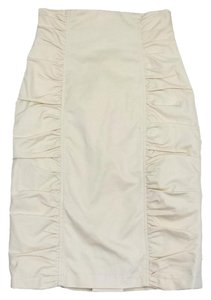 Nanette Lepore Cream Ruched Skirt