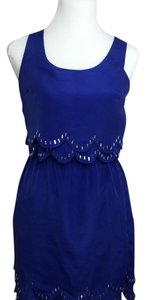 Lush short dress Blue on Tradesy
