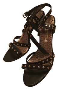 Manolo Blahnik Black studded Sandals