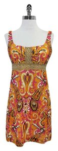 MILLY short dress Multi Color Paisley Print Cotton on Tradesy