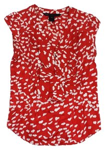 Marc by Marc Jacobs Red White Heart Print Top