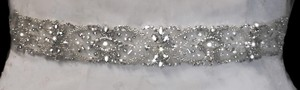 Crystal And Rhinestone Beaded Wedding Dress Belt Sash