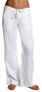Island Company Linen Face Relaxed Pants White