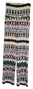 Cynthia Rowley Stretch Wide Leg Ethnic Print Pants
