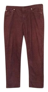 Gap Boyfriend Pants Maroon