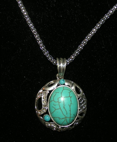Silver/Turquoise Bogo Free Free Shipping Necklace