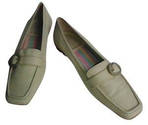 Rangoni Leather Loafer Buckle Accent Off While Flats