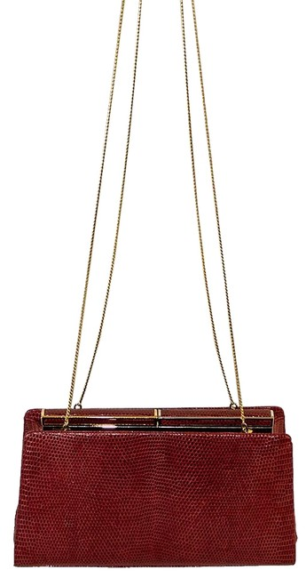 Item - Red / Gold Leather Cross Body Bag