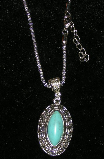 Bogo Free Turquoise Tibet Silver Necklace Free Shipping