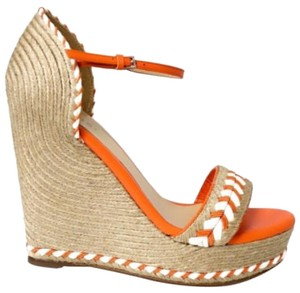 Gucci 370496 Tiffany Espadrille orange Platforms