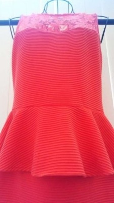 Charlotte Russe short dress Coral Peplum Lace Bodycon on Tradesy