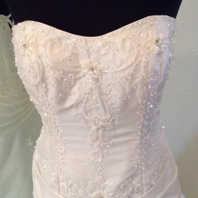 House of Wu Ivory Tulle and Satin Vintage Wedding Dress
