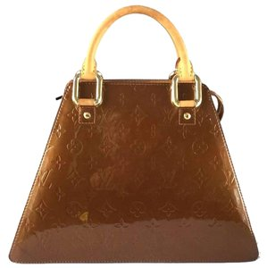Louis Vuitton Vernis Forsyth Rare Satchel in Bronze