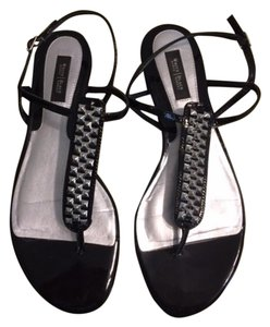 White House | Black Market Black/Silver Sandals