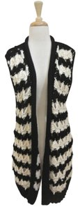 Calypso St. Barth Crochet Vest Long Sleeveless Tunic Sweater
