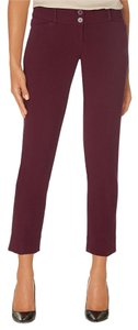 The Limited Red Business Casual Relaxed Pants Burgundy