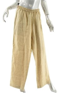 Eskandar Drawstring Relaxed Pants Golden Beige