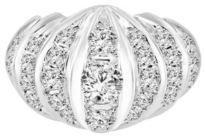 Avi and Co 1.65 cttw Ladies Round Brilliant Cut Tiered Dome Diamond Ring 14K White Gold