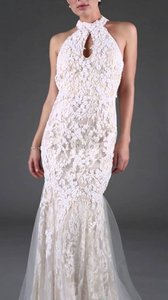 Jovani 90157 Lace Halter Wedding Dress
