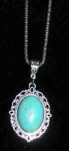 Turquoise Tribal Necklace Free Shipping
