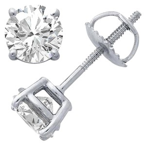 Avi and Co 1.42 cttw Round Brilliant Cut Diamond Stud Earrings 14K White Gold