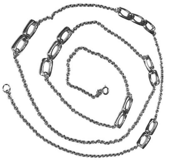 unknown Silvertone 52 Inch Chain with Decorative Links