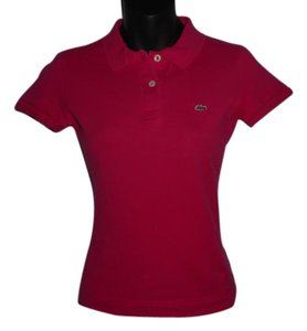 Lacoste Cotton Cotton Blend Button Down Shirt DARK PINK