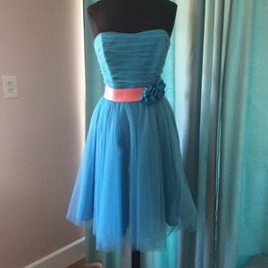 Eden Turquoise/Salmon 6021 Dress