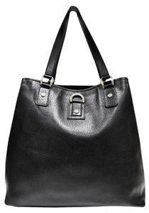 Gucci Pebbled Leather Tote in Black